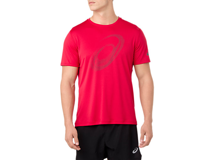 Front Top view of Silver Graphic Short Sleeve Top