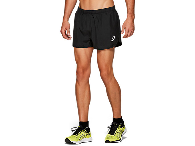Alternative image view of SILVER SPLIT SHORT, Performance Black