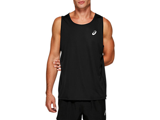 SILVER SINGLET PERFORMANCE BLACK