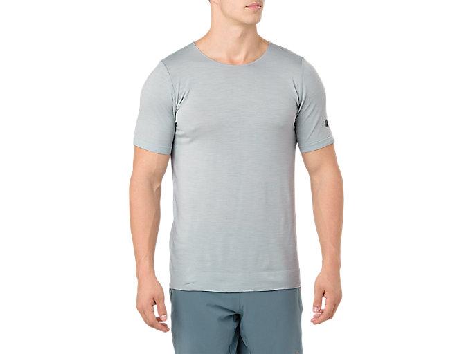 Men's Metarun Short Sleeve T-Shirt | Mid Grey | Short Sleeve ...