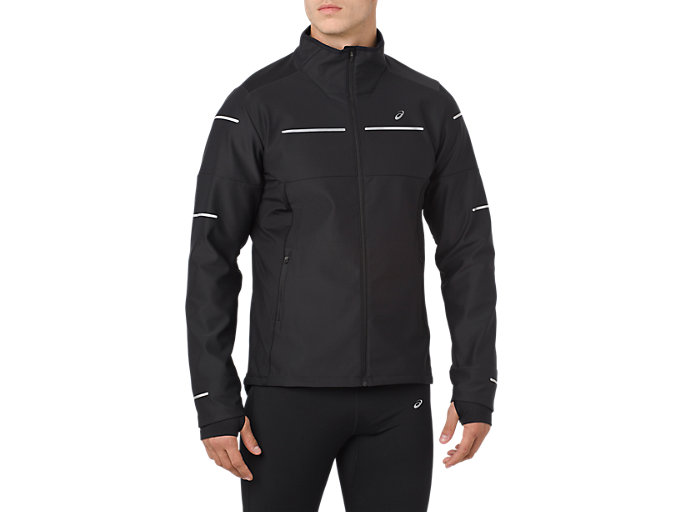 Front Top view of LITE-SHOW WINTER JACKET, PERFORMANCE BLACK