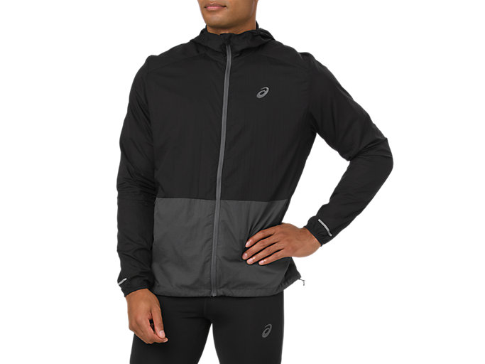 Alternative image view of PACKABLE JACKET, Dark Grey/Performance Black