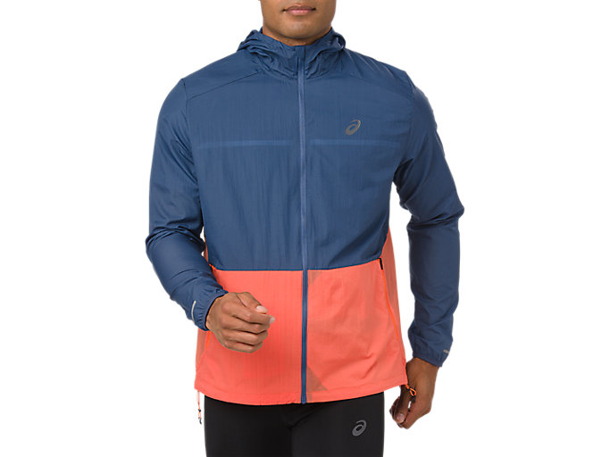 Alternative image view of PACKABLE JACKET, GRAND SHARK/NOVA ORANGE