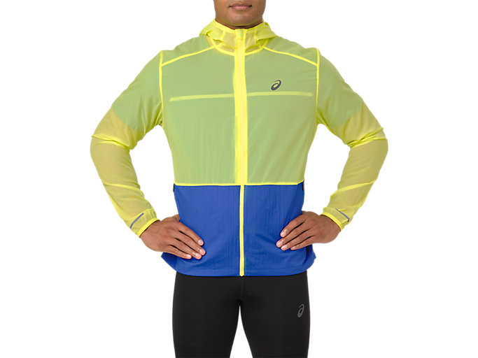Alternative image view of PACKABLE JACKET, LEMON SPARK/ILLUSION BLUE