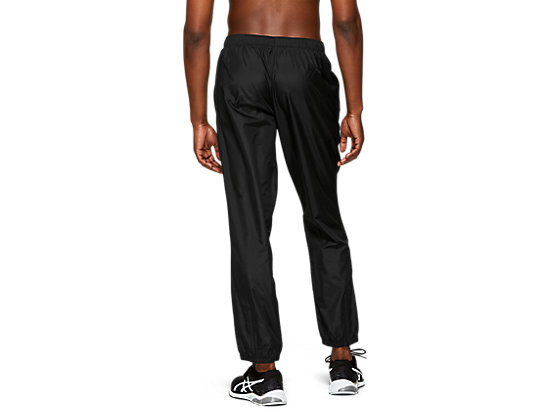 SILVER WOVEN PANT PERFORMANCE BLACK