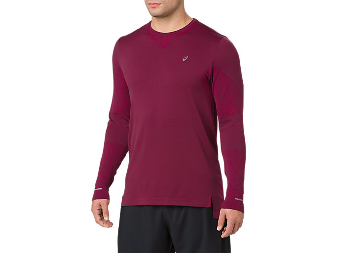 Front Top view of SEAMLESS LS, CORDOVAN