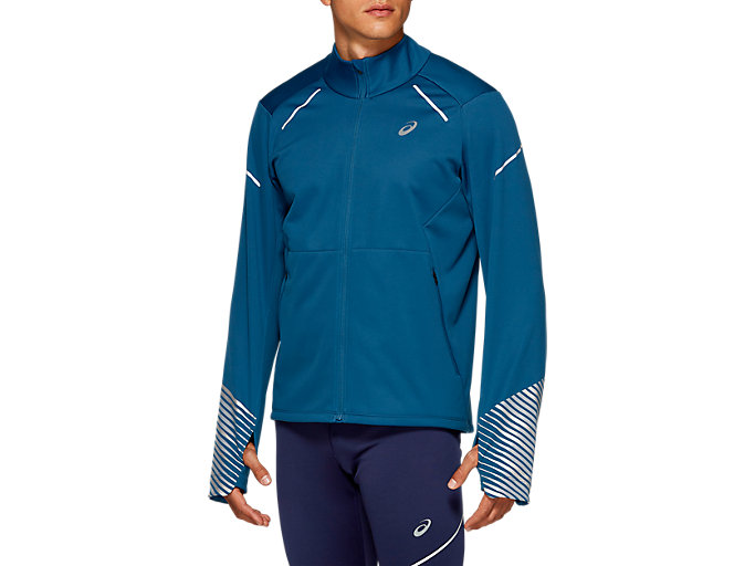 Front Top view of LITE-SHOW 2 WINTER JACKET, Mako Blue