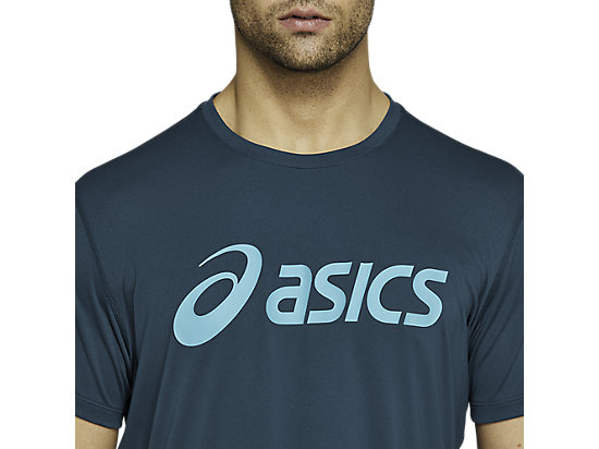 SILVER ASICS TOP MAGNETIC BLUE/TECHNO CYAN