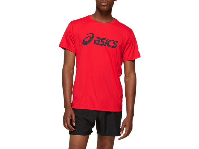 Alternative image view of SILVER ASICS TOP,  Classic Red / Dark Grey