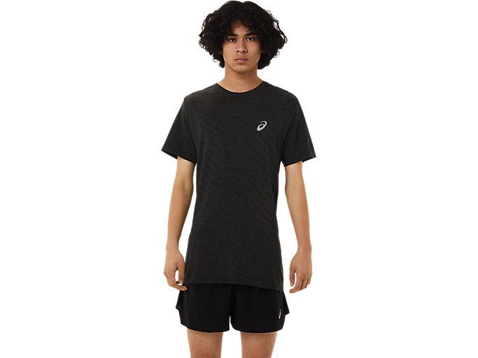 Alternative image view of SEAMLESS SS TOP, Performance Black/Dark Grey