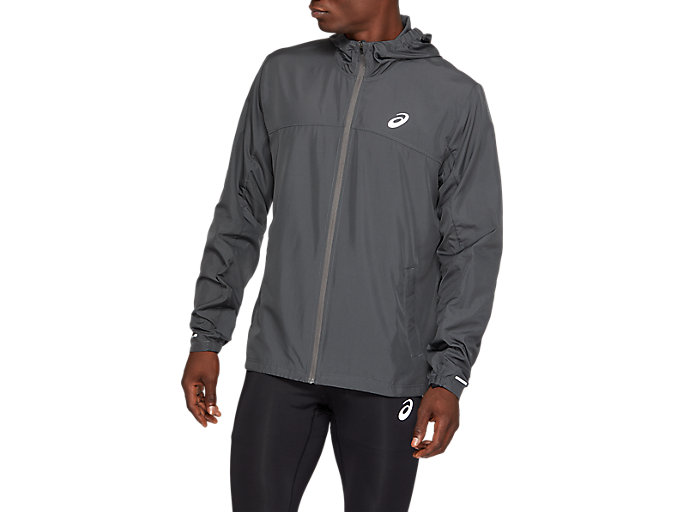Alternative image view of RUN HOOD JACKET, Dark Grey