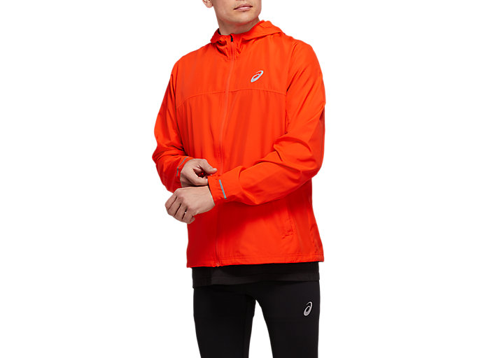 Alternative image view of RUN HOOD JACKET, CHERRY TOMATO
