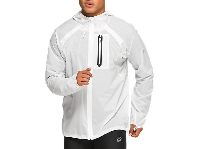 Men's Metarun Waterproof Jacket | Brilliant White | Outerwear | ASICS