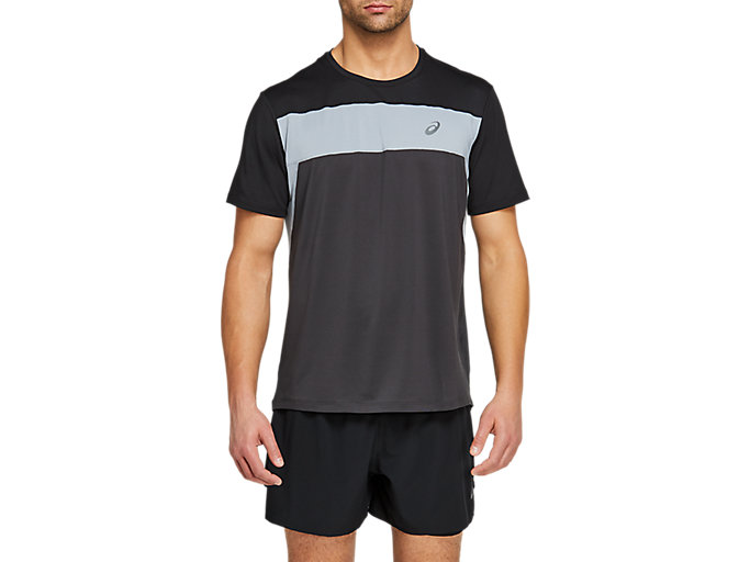 Alternative image view of RACE SHORT SLEEVED TOP,  Graphite Grey/Performance Black