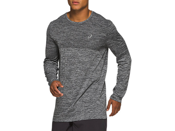 Alternative image view of RACE SEAMLESS LS, Performance Black
