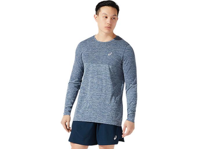 Men's RACE SEAMLESS LS | FRENCH BLUE | Long Sleeve Shirts | ASICS