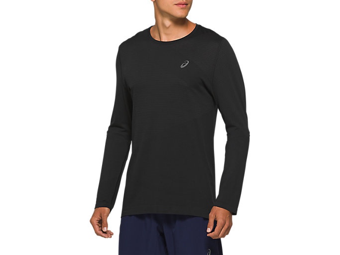 Alternative image view of TOKYO SEAMLESS LS, PERFORMANCE BLACK