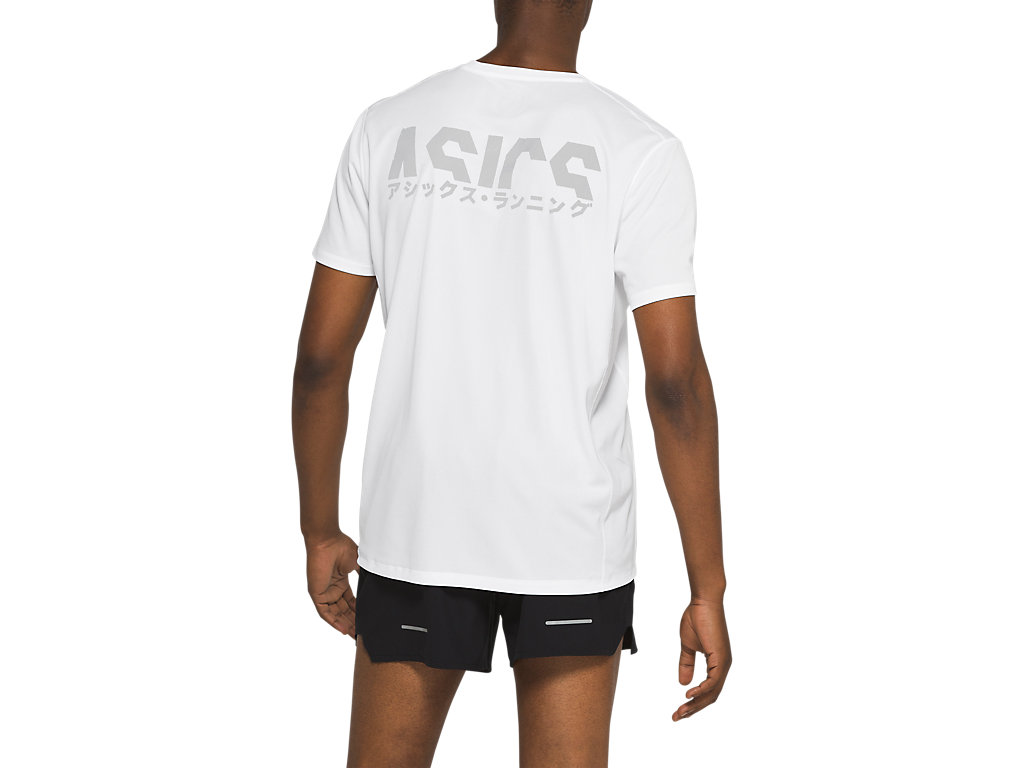 Men's KATAKANA SS TOP | Brilliant White | Short Sleeve Shirts | ASICS