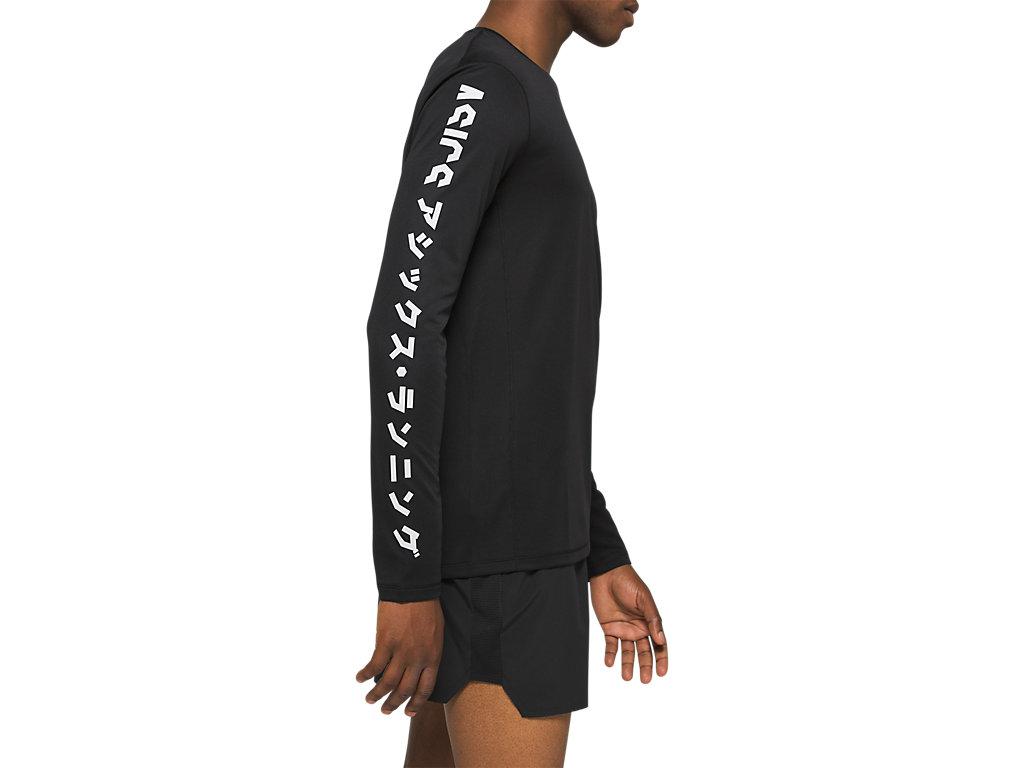 Men's KATAKANA LS TOP | Performance Black | Long Sleeve Shirts | ASICS