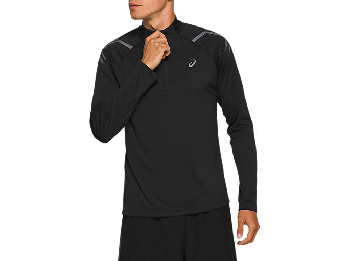 Alternative image view of ICON LS 1/2 ZIP TOP, PERFORMANCE BLACK
