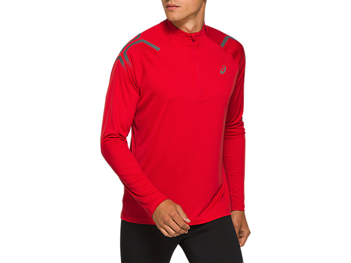 Alternative image view of ICON LS 1/2 ZIP TOP, CLASSIC RED