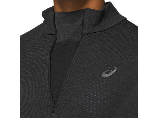 RACE SEAMLESS 1/2 ZIP PERFORMANCE BLACK