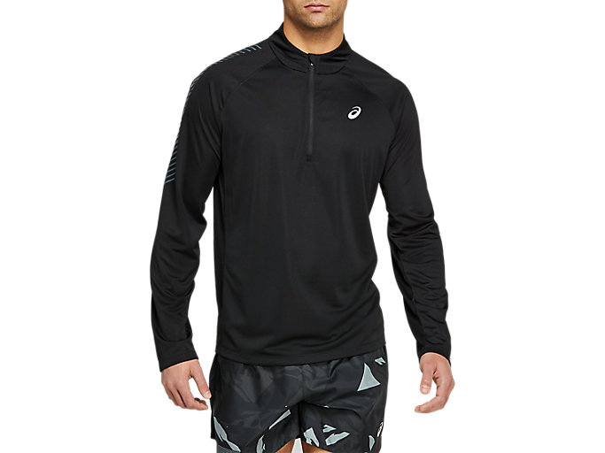 Alternative image view of ICON LS 1/2 ZIP, Performance Black/Carrier Grey