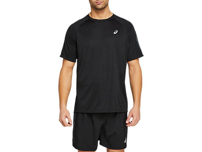 Alternative image view of ICON SHORT SLEEVED TOP,  Performance Black/Carrier Grey