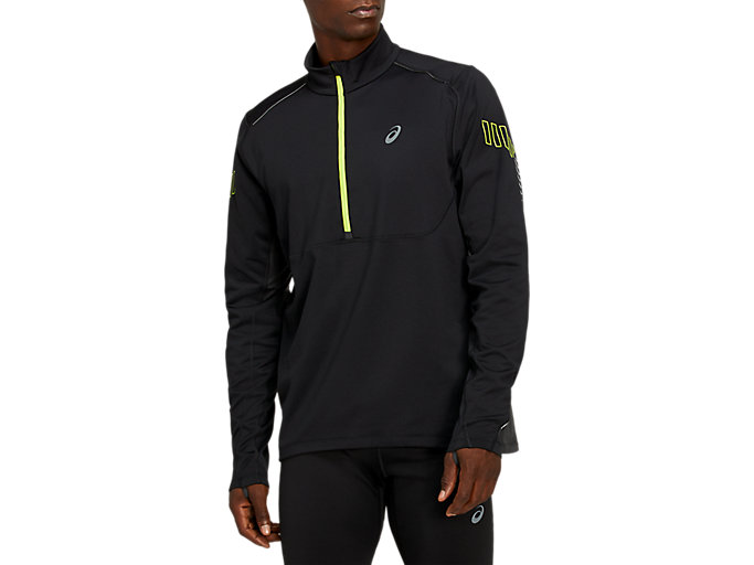 Alternative image view of LITE-SHOW WINTER 1/2 ZIP TOP, Performance Black/Graphite Grey