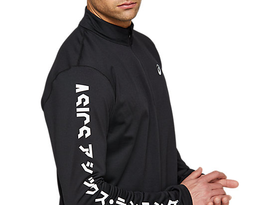 KATAKANA WINTER 1/2 ZIP PERFORMANCE BLACK