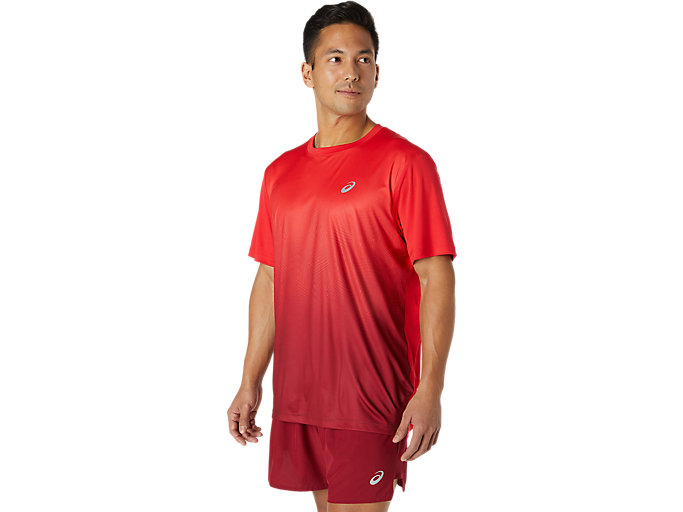Alternative image view of KASANE SS TOP, Electric Red/Burgundy