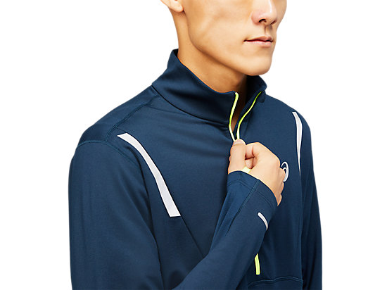 LITE-SHOW WINTER 1/2 ZIP TOP FRENCH BLUE