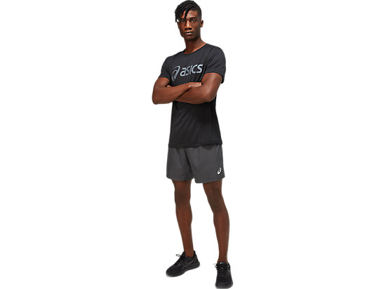 CORE ASICS TOP PERFORMANCE BLACK/CARRIER GREY