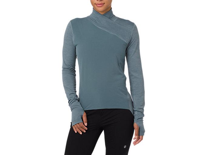 Front Top view of Metarun GEL-Heat Long Sleeve Shirt