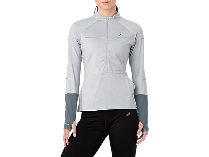 Alternative image view of Lite-Show 1/2 Zip Long Sleeve Shirt