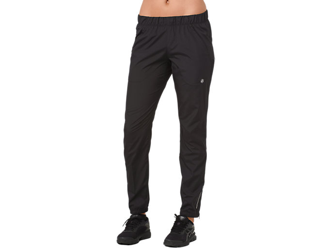 Front Top view of WOVEN PANT, PERFORMANCE BLACK