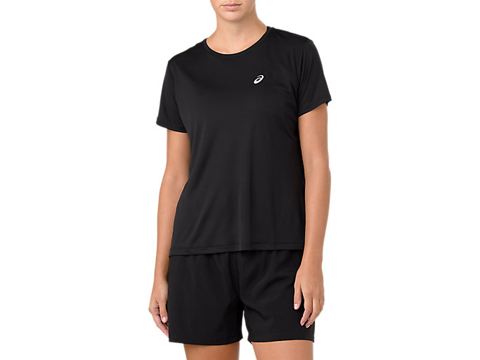 Alternative image view of SILVER SHORT SLEEVED TOP,  Performance Black