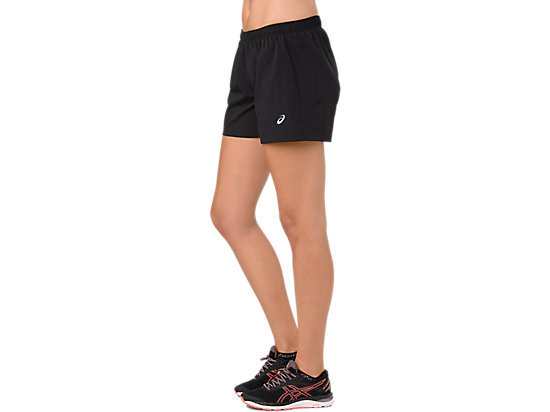SILVER 4IN SHORT PERFORMANCE BLACK