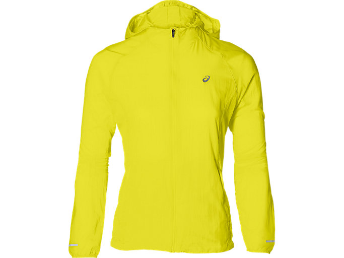 Front Top view of PACKABLE JACKET, LEMON SPARK