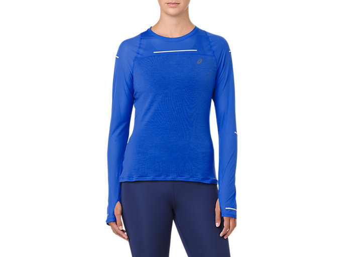 Front Top view of LITE-SHOW LONG SLEEVE, ILLUSION BLUE