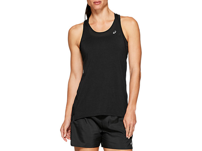 Alternative image view of LOOSE STRAPPY TANK, PERFORMANCE BLACK