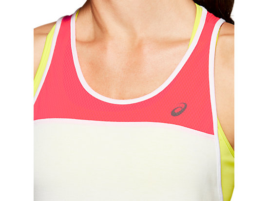 LOOSE STRAPPY TANK BRILLIANT WHITE / LASER PINK