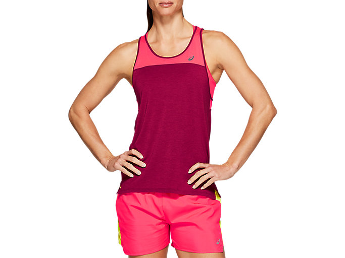 Alternative image view of LOOSE STRAPPY TANK, CHILI FLAKE / LASER PINK