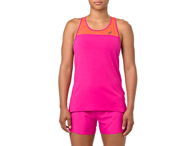 Alternative image view of LOOSE STRAPPY TANK, PINK RAVE/NOVA ORANGE