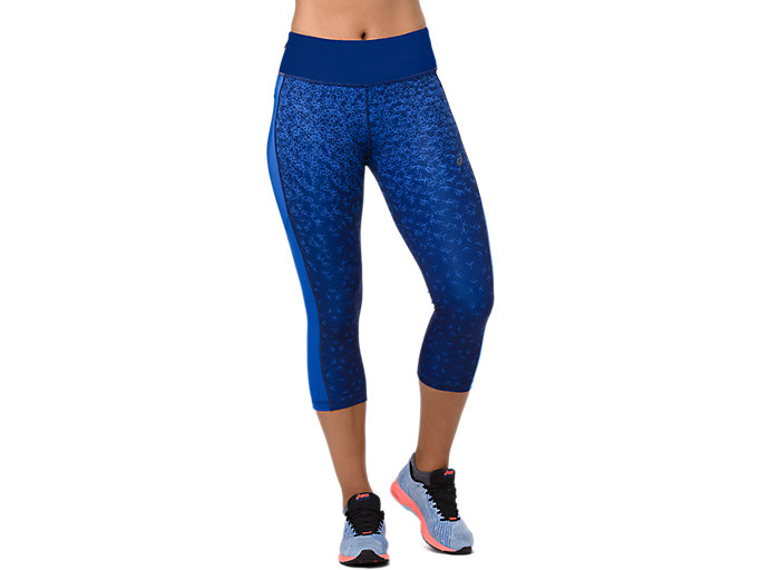 Alternative image view of CAPRI TIGHT PRINT, AOP HEX FADE INDIGO BLUE