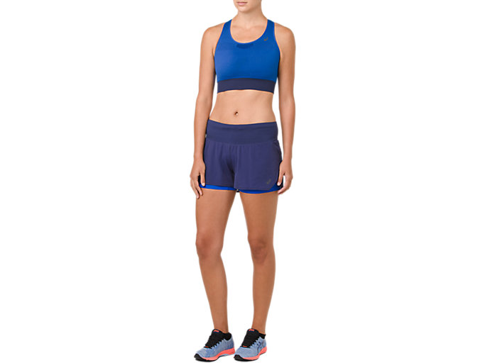 Front Top view of COOLING SEAMLESS BRA, ILLUSION BLUE/INDIGO BLUE
