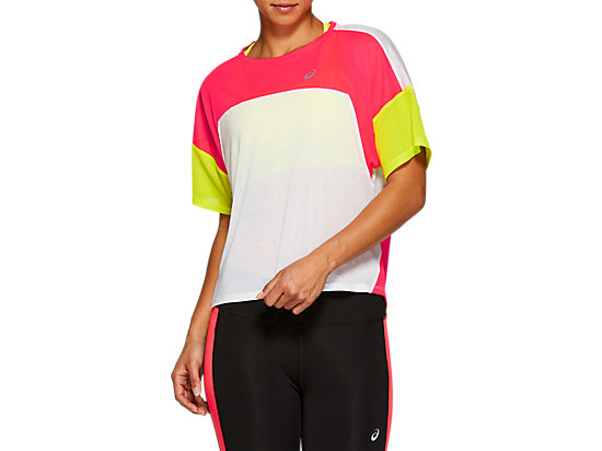 STYLE TOP BRILLIANT WHITE / LASER PINK
