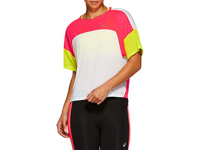 Alternative image view of STYLE TOP, BRILLIANT WHITE / LASER PINK