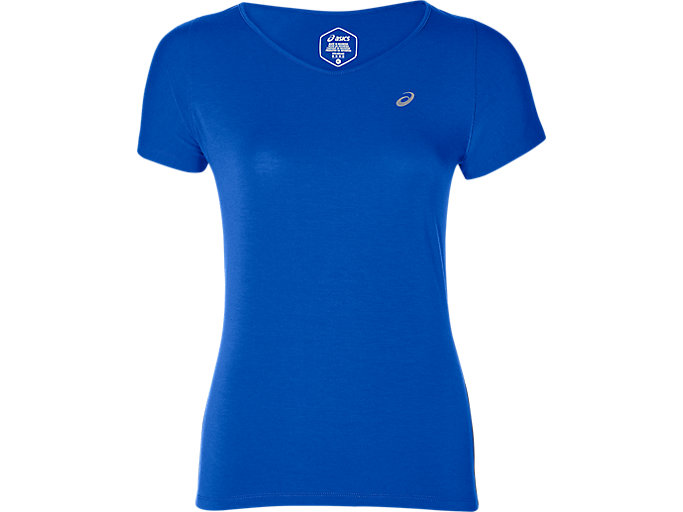 Alternative image view of V-NECK SS TOP, ILLUSION BLUE