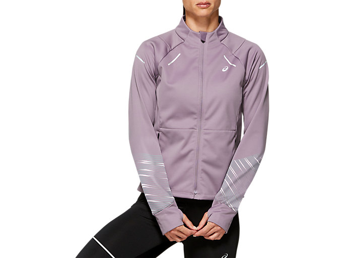Front Top view of LITE-SHOW™ 2 WINTER JACKET, Lavender Grey